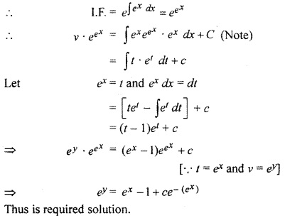 RBSE Solutions for Class 12 Maths Chapter 12 Differential Equation Ex 12.9