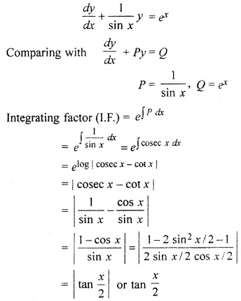 RBSE Solutions for Class 12 Maths Chapter 12 Differential Equation Miscellaneous Exercise