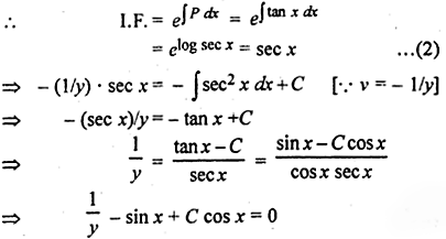 RBSE Solutions for Class 12 Maths Chapter 12 अवकल समीकरण Ex 12.9