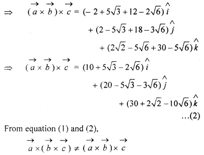 RBSE Solutions for Class 12 Maths Chapter 13 Vector Ex 13.5
