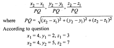 RBSE Solutions for Class 12 Maths Chapter 14 Three Dimensional Geometry Ex 14.1