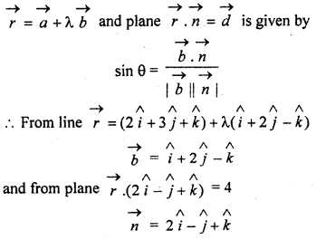 RBSE Solutions for Class 12 Maths Chapter 14 Three Dimensional Geometry Ex 14.7