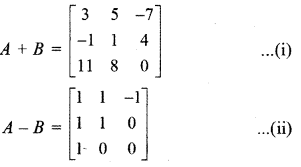 RBSE Solutions for Class 12 Maths Chapter 3 Additional Questions 12