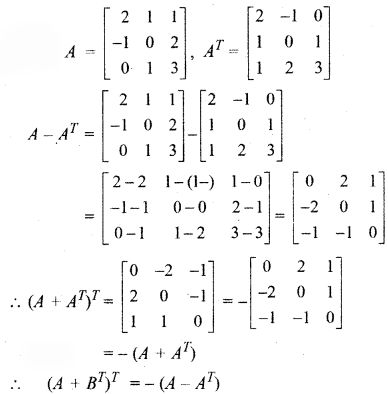 RBSE Solutions for Class 12 Maths Chapter 3 Additional Questions 29