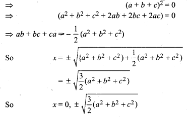 RBSE Solutions for Class 12 Maths Chapter 4 Determinants Miscellaneous Exercise