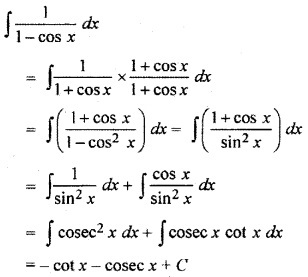 RBSE Solutions for Class 12 Maths Chapter 9 Integration Ex 9.1
