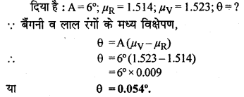RBSE Solutions for Class 12 Physics Chapter 11 किरण प्रकाशिकी Numeric Q 6