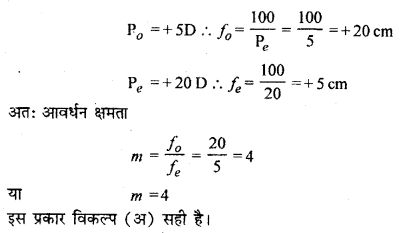 RBSE Solutions for Class 12 Physics Chapter 11 किरण प्रकाशिकी multiple Q 20