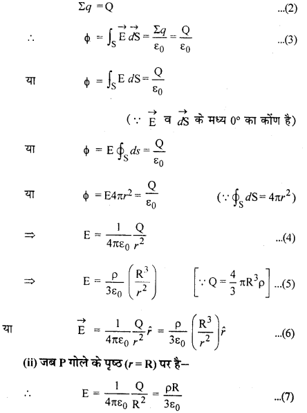 RBSE Solutions for Class 12 Physics Chapter 2 गाउस का नियम एवं उसके अनुप्रयोग 35
