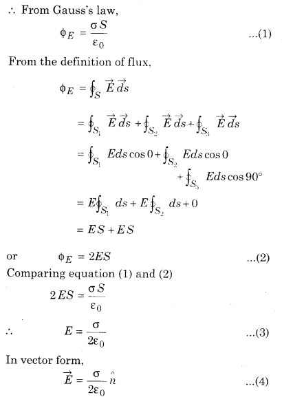 RBSE Solutions for Class 12 Physics Chapter 2 Gauss's Law and its Applications 54
