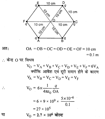 RBSE Solutions for Class 12 Physics Chapter 3 विद्युत विभव 76