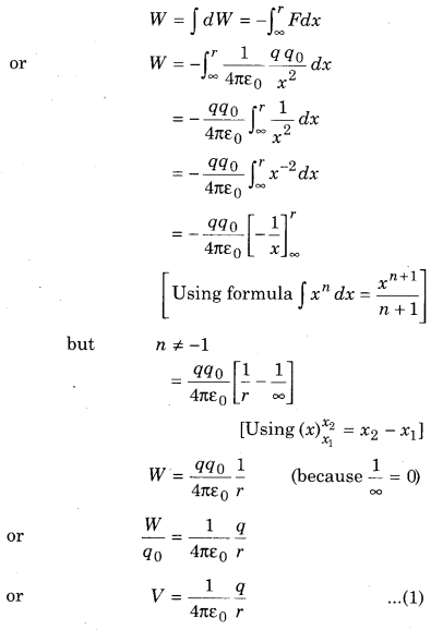 RBSE Solutions for Class 12 Physics Chapter 3 Electric Potential 54