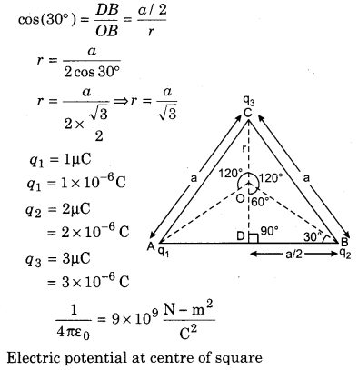 RBSE Solutions for Class 12 Physics Chapter 3 Electric Potential 72