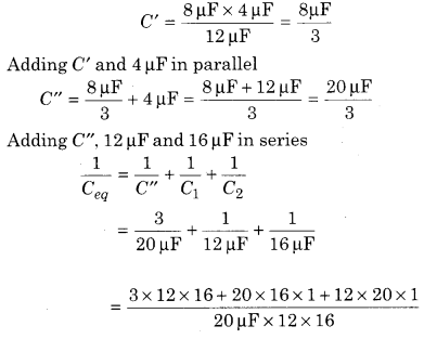 RBSE Solutions for Class 12 Physics Chapter 4 Electrical Capacitance 15