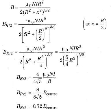RBSE Solutions for Class 12 Physics Chapter 7 Magnetic Effects of Electric Current 14