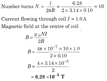 RBSE Solutions for Class 12 Physics Chapter 7 Magnetic Effects of Electric Current 52