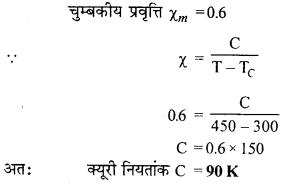 RBSE Solutions for Class 12 Physics Chapter 8 चुम्बकत्व एवं चुम्बकीय पदार्थों के गुण 41