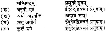 RBSE Class 12 Sanskrit vyaakaranam sandhipreekaranam