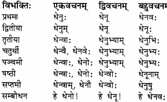 RBSE Solutions for Class 8 Sanskrit रञ्जिनी Chapter 17 धेनुमहिमा - 7
