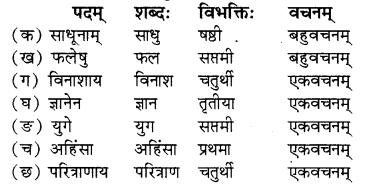 RBSE Solutions for Class 8 Sanskrit रञ्जिनी Chapter 5 गीतामृतम् - 3