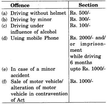 RBSE Solutions for Class 9 English Road Safety Education 10