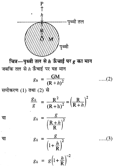 RBSE Solutions for Class 11 Physics Chapter 6 गुरुत्वाकर्षण 11