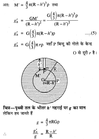 RBSE Solutions for Class 11 Physics Chapter 6 गुरुत्वाकर्षण 13