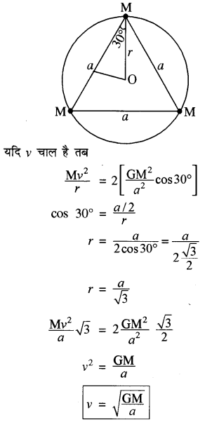 RBSE Solutions for Class 11 Physics Chapter 6 गुरुत्वाकर्षण 30