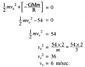 RBSE Solutions for Class 11 Physics Chapter 6 गुरुत्वाकर्षण 31