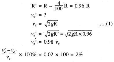 RBSE Solutions for Class 11 Physics Chapter 6 गुरुत्वाकर्षण 40