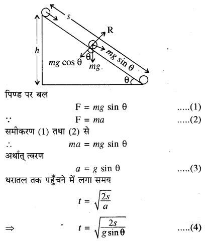 RBSE Solutions for Class 11 Physics Chapter 7 दृढ़ पिण्ड गतिकी 58