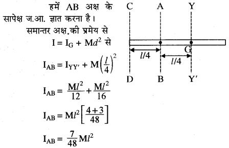 RBSE Solutions for Class 11 Physics Chapter 7 दृढ़ पिण्ड गतिकी 65
