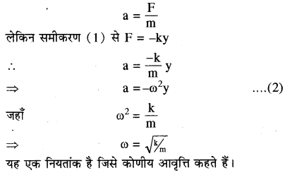 RBSE Solutions for Class 11 Physics Chapter 8 दोलन गति 13