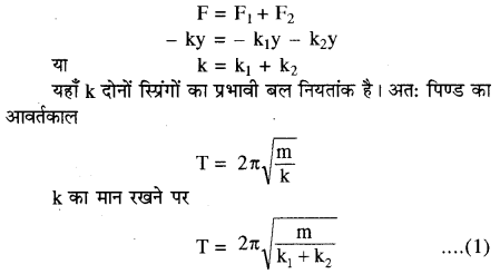 RBSE Solutions for Class 11 Physics Chapter 8 दोलन गति 35