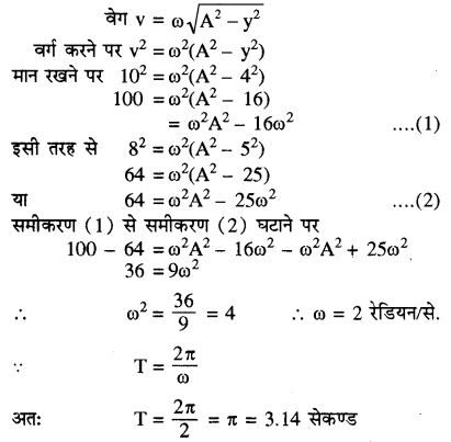 RBSE Solutions for Class 11 Physics Chapter 8 दोलन गति 46