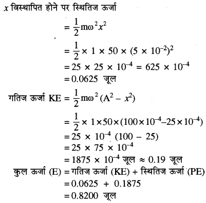 RBSE Solutions for Class 11 Physics Chapter 8 दोलन गति 49