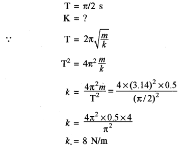 RBSE Solutions for Class 11 Physics Chapter 8 दोलन गति 57