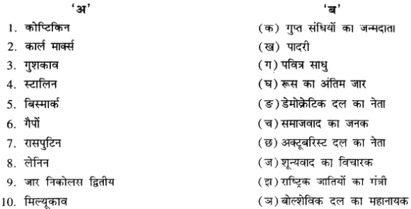RBSE Solutions for Class 11 History Chapter 5 प्रथम विश्व युद्ध