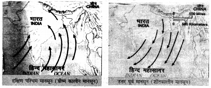 RBSE Solutions for Class 11 Physical Geography Chapter 13 वायुदाब की पेटियाँ एवं पवनें 4