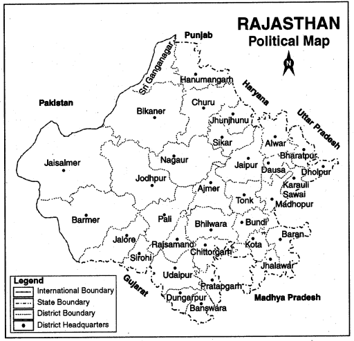 RBSE Solutions for Class 12 Political Science Map Work - 2