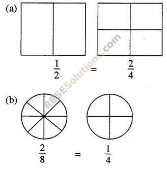 RBSE Solutions for Class 5 Maths Chapter 7 तुल्य भिन्न In Text Exercise 1