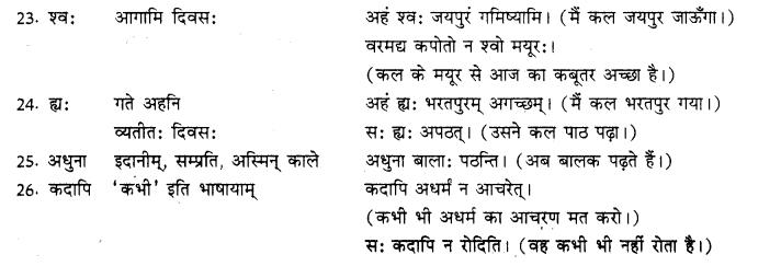 RBSE Class 10 Sanskrit व्याकरणम् अव्ययम् image 5