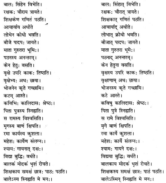RBSE Class 10 Sanskrit व्याकरणम् अशुद्धि-संशोधनम् image 2