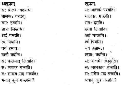 RBSE Class 10 Sanskrit व्याकरणम् अशुद्धि-संशोधनम् image 3