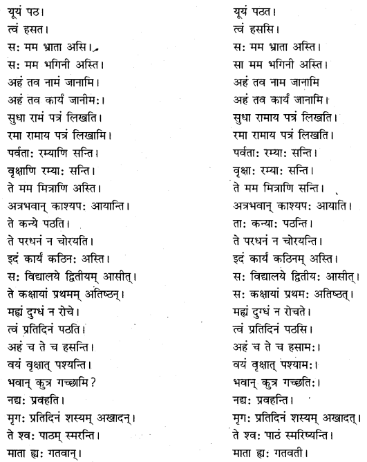 RBSE Class 10 Sanskrit व्याकरणम् अशुद्धि-संशोधनम् image 4