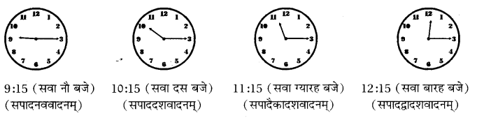 RBSE Class 10 Sanskrit व्याकरणम् घटिका चित्र साहाय्य समय-लेखनम् image 4