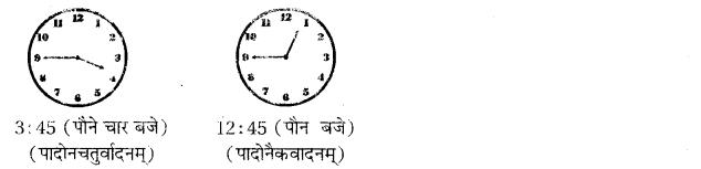 RBSE Class 10 Sanskrit व्याकरणम् घटिका चित्र साहाय्य समय-लेखनम् image 7