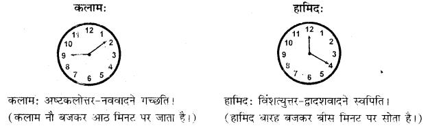 RBSE Class 10 Sanskrit व्याकरणम् घटिका चित्र साहाय्य समय-लेखनम् image 8