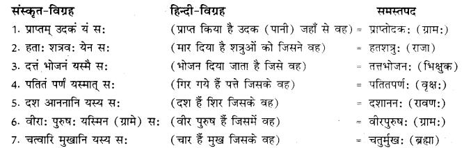RBSE Class 10 Sanskrit व्याकरणम् समासः image 12