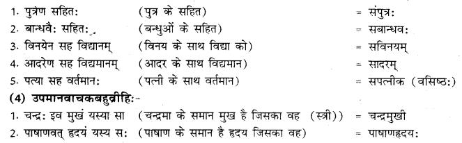 RBSE Class 10 Sanskrit व्याकरणम् समासः image 14